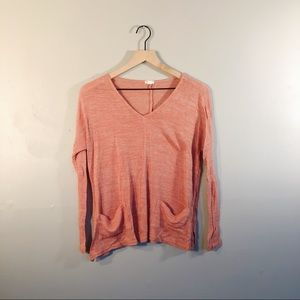 orange long sleeve sweater top from garage!